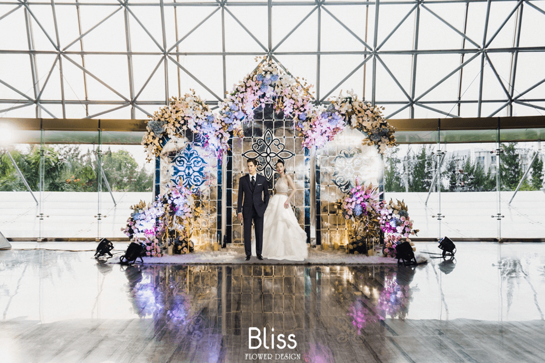 trang trí hoa tươi, bliss wedding & event, bliss flower design