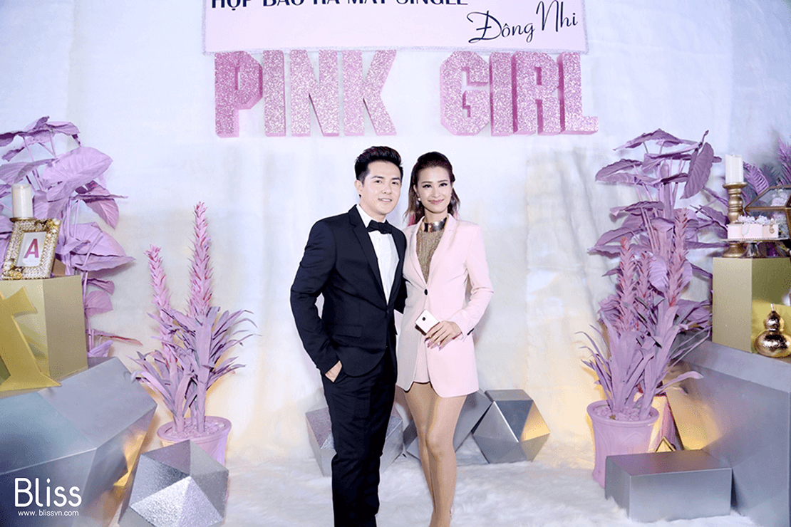 mv pink girl press conference đông nhi by bliss event vietnam