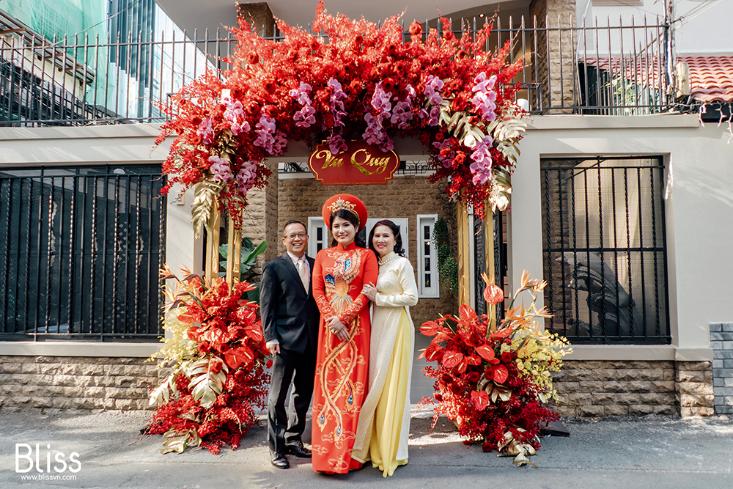 tổ chức đám cưới truyền thống tại nhà