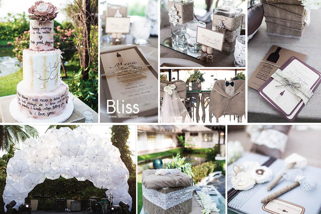 Outdoor wedding in Hochiminh