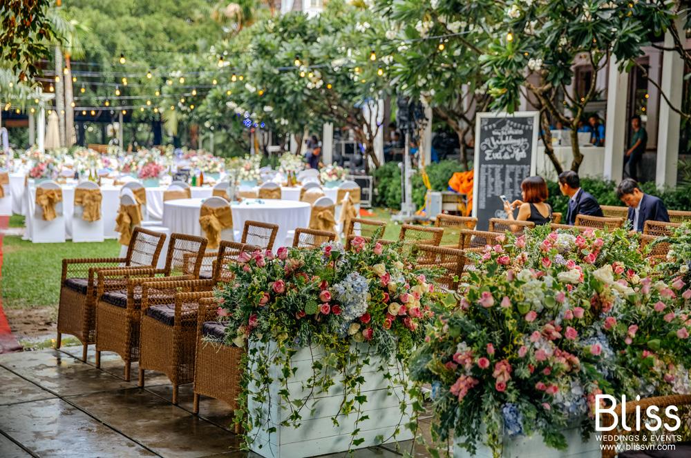 Bliss wedding Vietnam - địa điểm tổ chức tiệc cưới ngoài trời