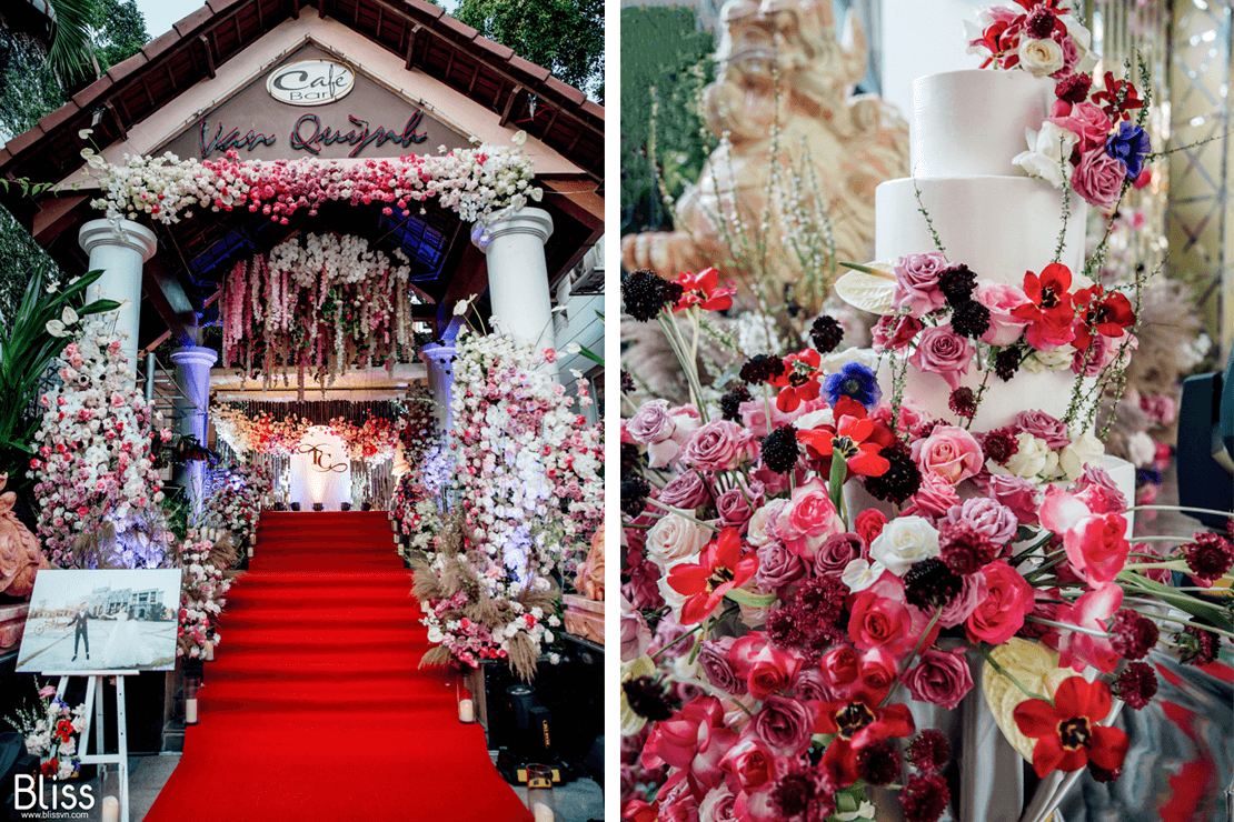 Trang trí tiệc cưới sân nhà Quảng Ngãi - Bliss wedding planner